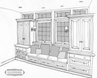 built in breakfast nook bench plans-no windows though. get ...
