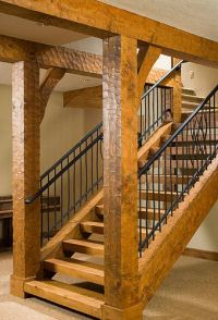 Love these timber frame stairs | Ranch House | Pinterest ...
