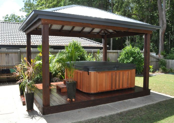 Outdoor Hot Tub Landscaping Ideas Hot Tubs & Jacuzzis
