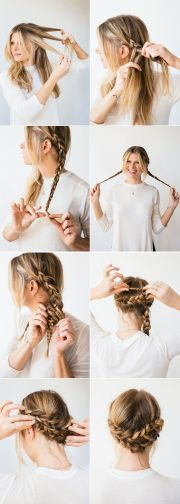 horseshoe braid simple braids