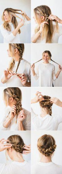 Horseshoe Braid | Simple braids, Updo and Romantic