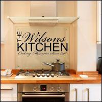 Personalised Kitchen ~ Wall sticker / decals | Kitchen ...