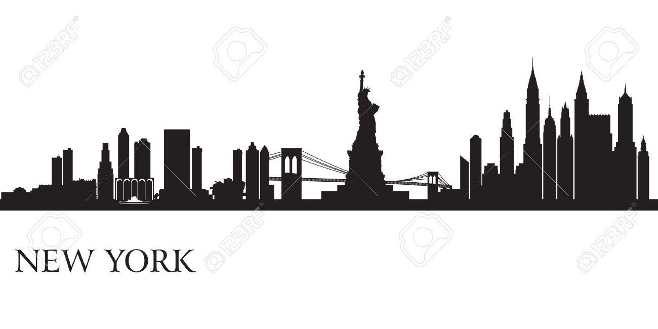 new york skyline tattoo black