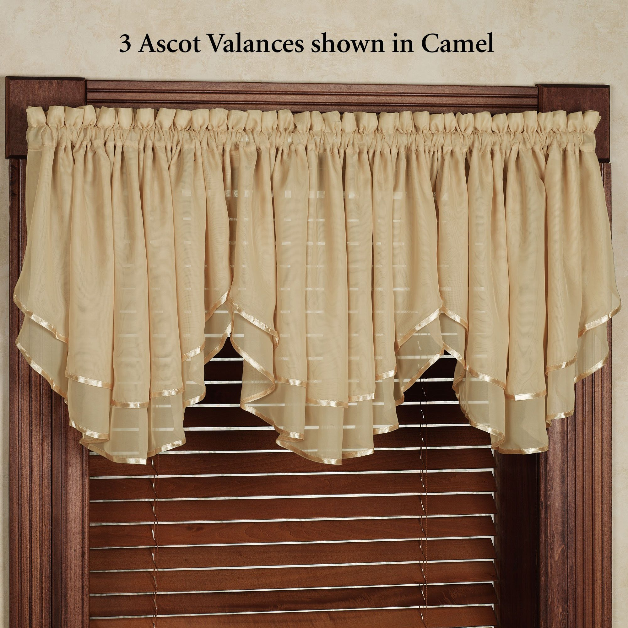 Elegance Sheer Layered Ascot Valance