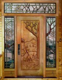 Doors and Windows -- Hand Carved Wood Door | Doors, knobs ...