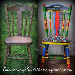 Teacher Rocking Chair Accent For Sale Painted With Chalkboard Paint A Circus
