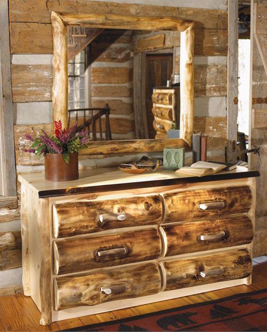 Best 25 Log bedroom furniture ideas on Pinterest  Cabin furniture Log furniture and Log cabin