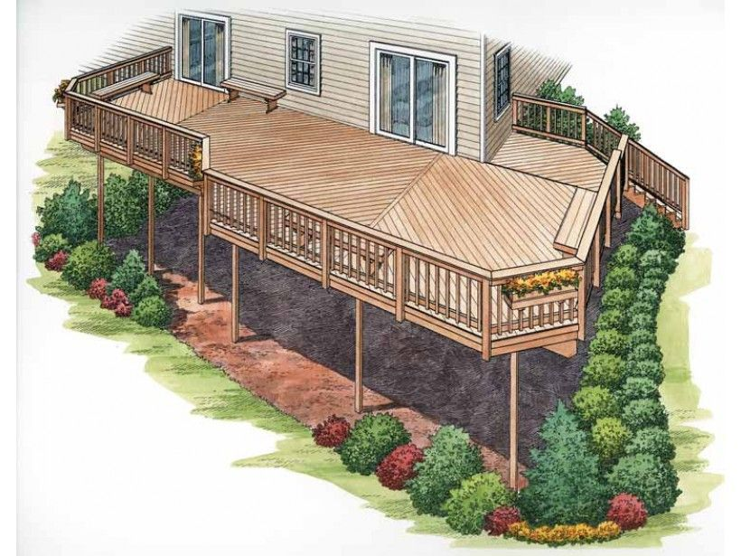 15 Sizes Available For This 320 Sf Deck Free Deck Plan Sizes