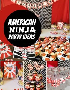 Boy   american ninja birthday party also bishes rh pinterest