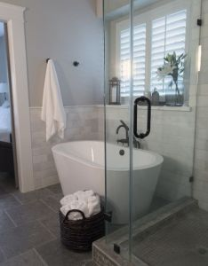 Before  after  confined bathroom is uplifted with bountiful space also rh pinterest