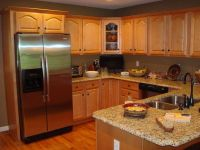 Kitchen Paint Colors Oak Cabinets With Island Design ...