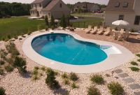 simple pool landscaping | Pool | Pinterest | Simple pool ...