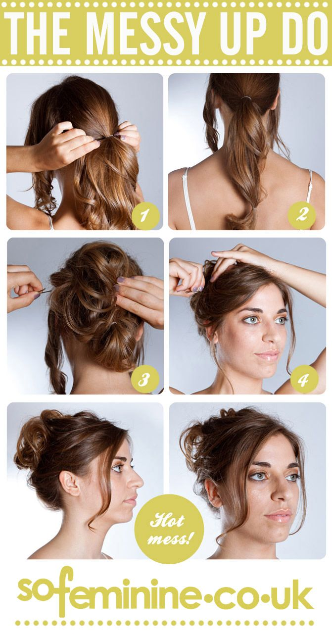 How To Do A Messy Updo 1 Gather Two Front Sections To Keep Loose