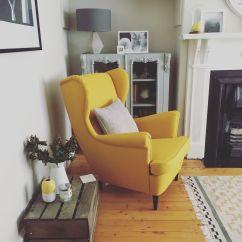 Yellow Sofa Bed Ikea Convertible Loveseat Strandmon Chair Love This Beauty Living