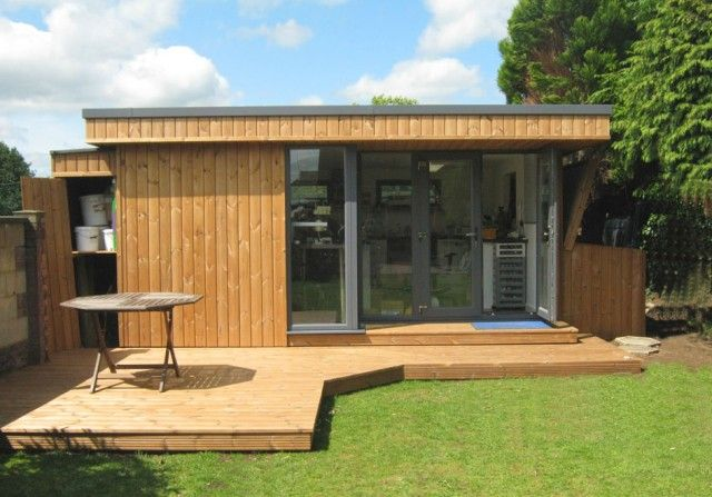 Garden Office With Shed And Veranda Granny Flats Pinterest