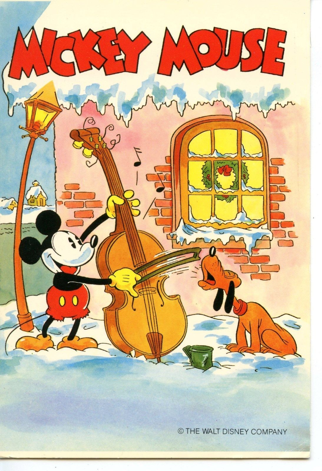 Mickey Mouse Plays Cello Pluto Sings Christmas Time Walt