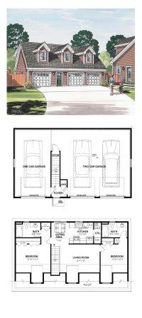 Garage Apartment Plan 30032 | Total Living Area: 887 sq ...