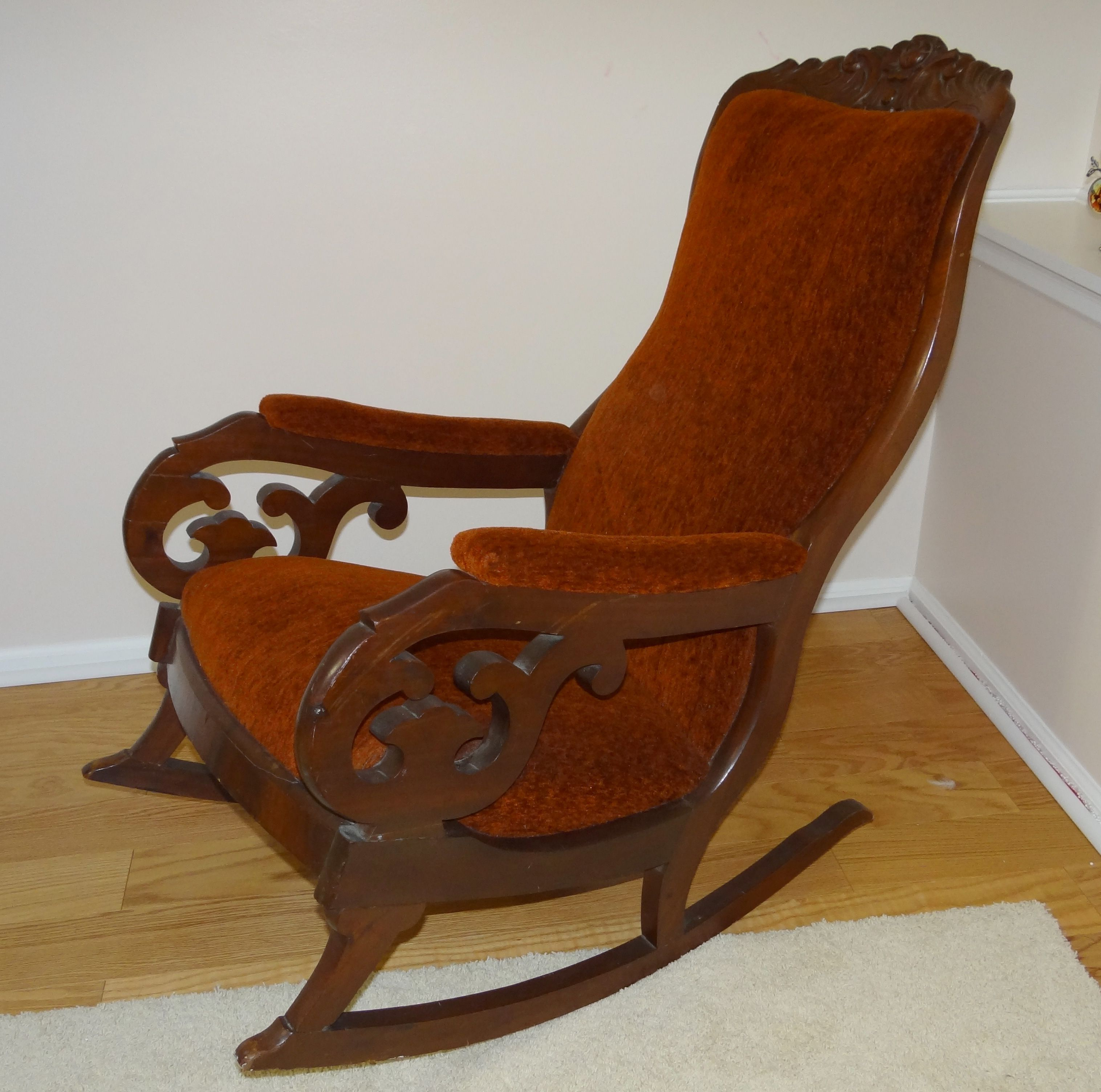 Antique Chair Rocking Chair On Pinterest Upholstered Rocking Chairs