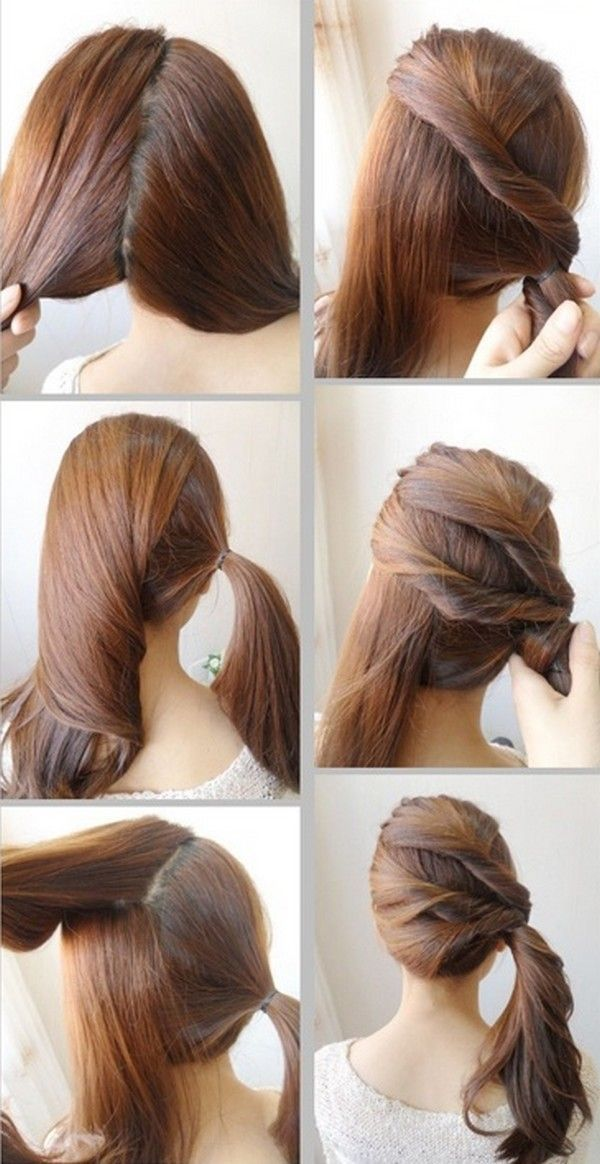 Side Twist Ponytail For College University Girls Nice Cool