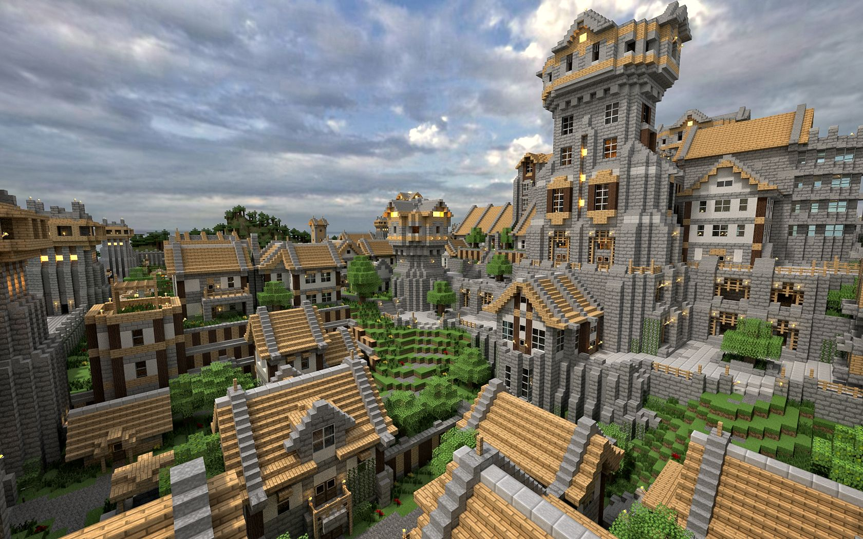 Minecraft Village I Really Want To Build Something Like This