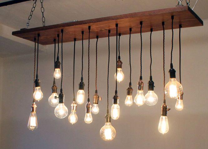Reclaimed Barn Wood Chandelier With Varying Edison Bulbs Mason Jar Light Fixture Primitive Rustic Bathroom Vanity Lighting Barnwood