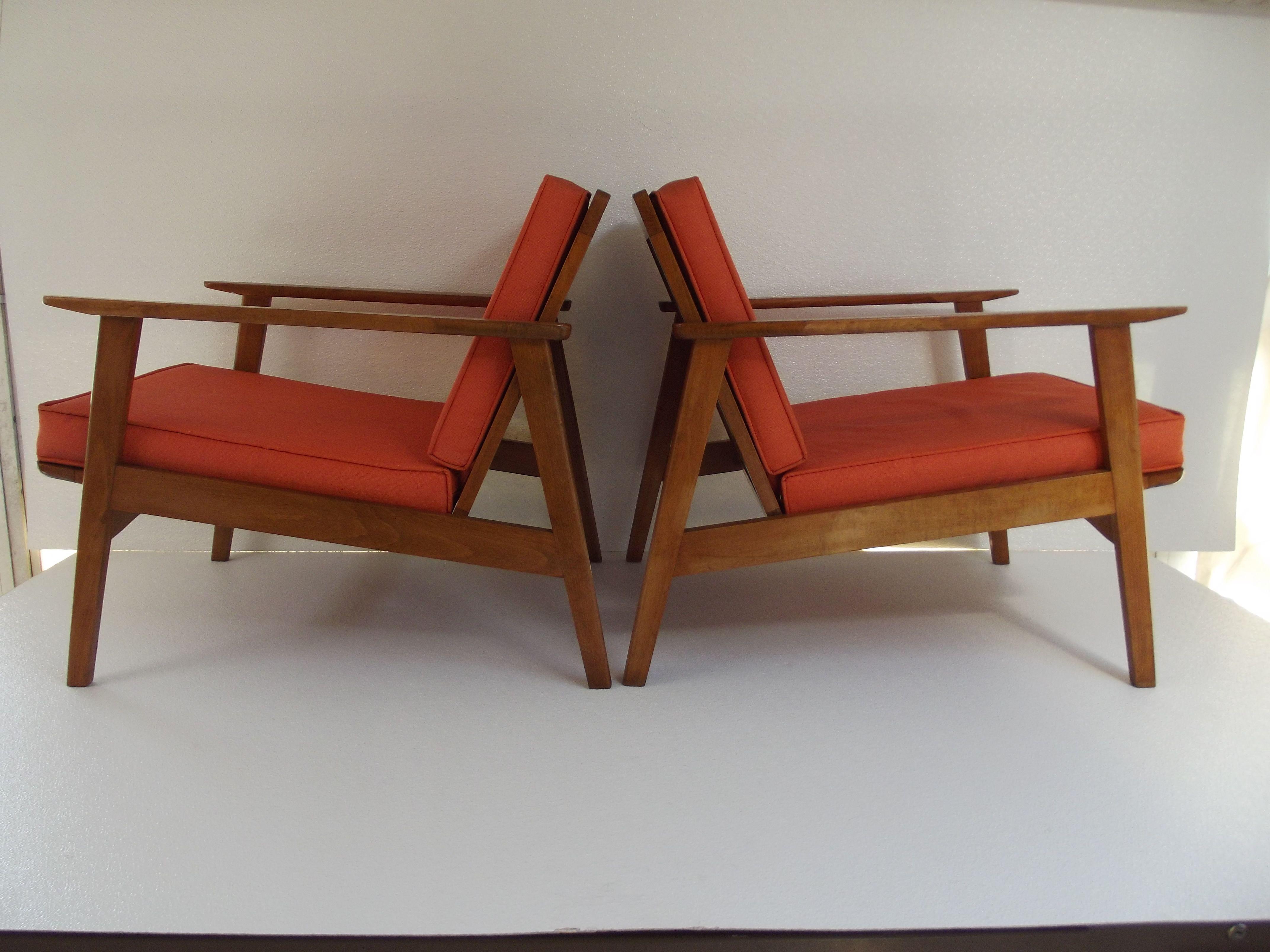 yugoslavian folding chair plastic adirondack pair 1960 39s danish modern lounge chairs made in yugoslavia