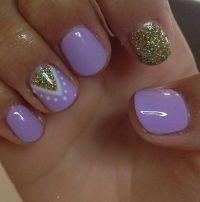 30+ Chosen Purple Nail Art Designs | Purple nail, Short ...