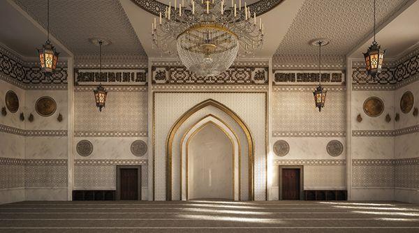 El Zaidan Mosque Interior Design on Behance  Mosque