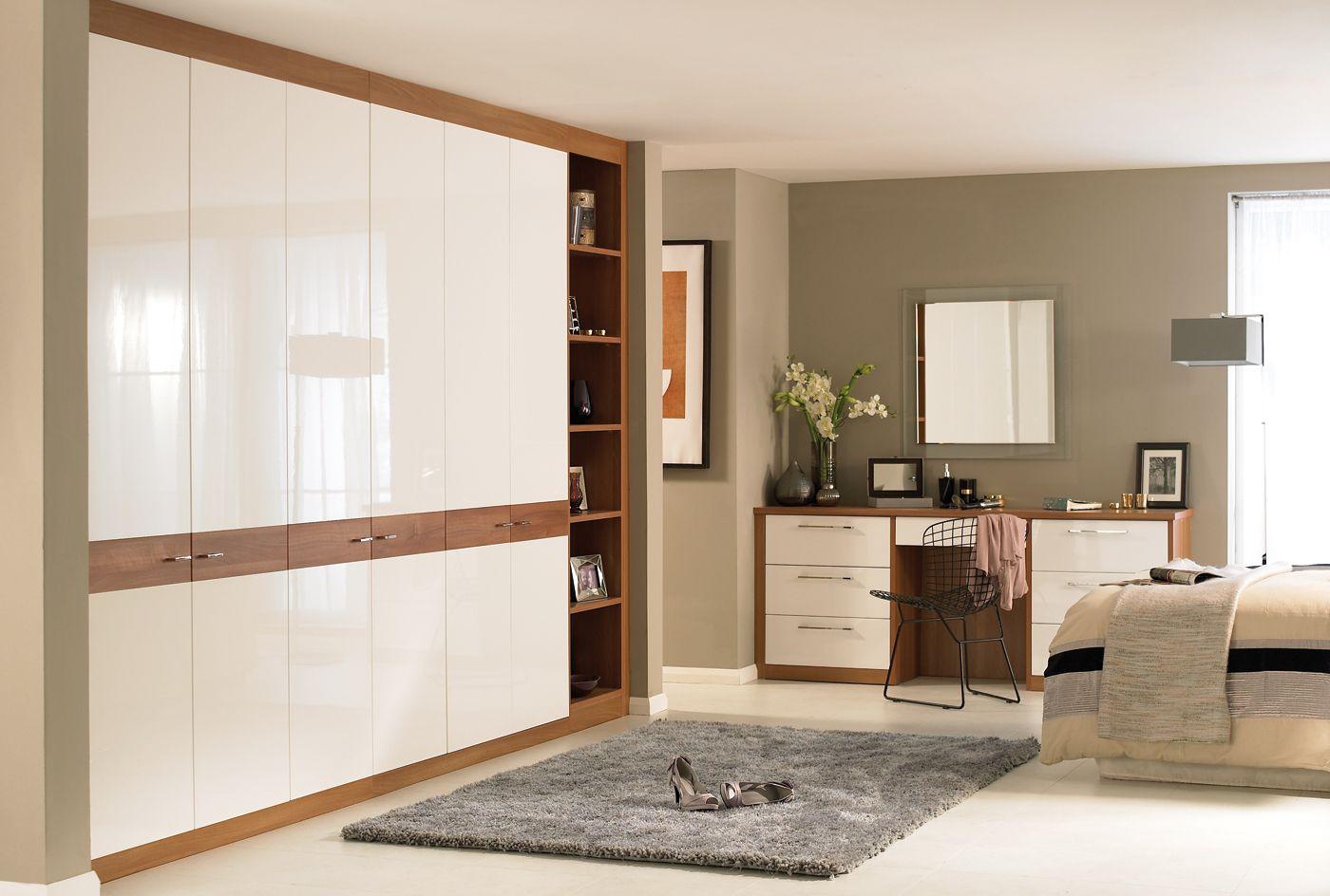 Horizon White  Walnut Bedroom Furniture  Wardrobes http