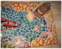 ceramic tile tropical bar top | Mosaic and Stained Glass ...