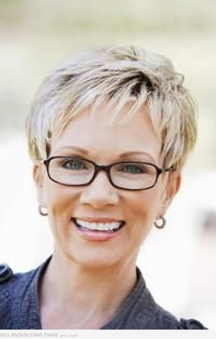 Short Hairstyles For Over 50 With GlassesDownload Full HD