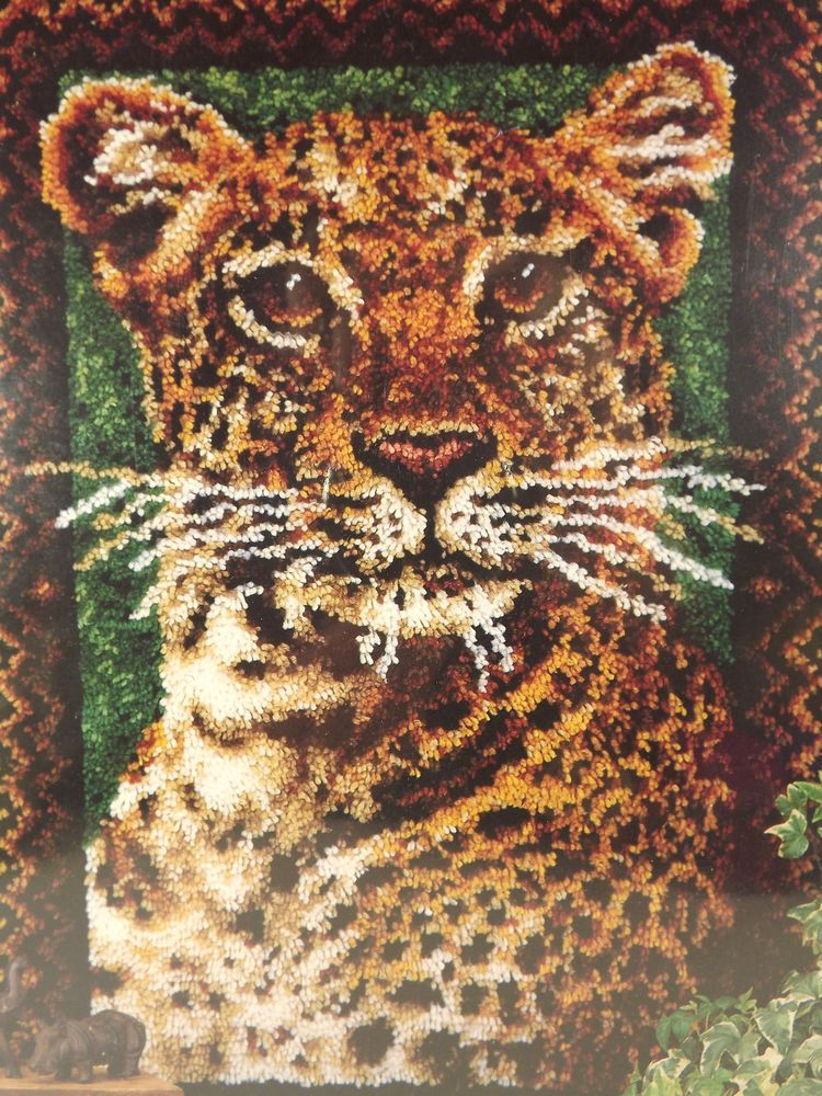 Leopard WonderArt Caron Latch Hook Rug Kit 4458 Color
