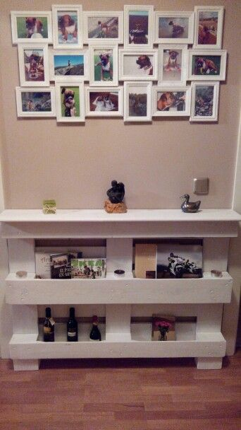 Mueble recibidor hecho con un palet  Muebles  Pinterest
