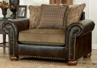 leather couch with fabric seat cushions - Google Search ...