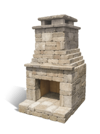 Fremont Outdoor Fireplace Kit | DIY Brick & Stone Plans ...
