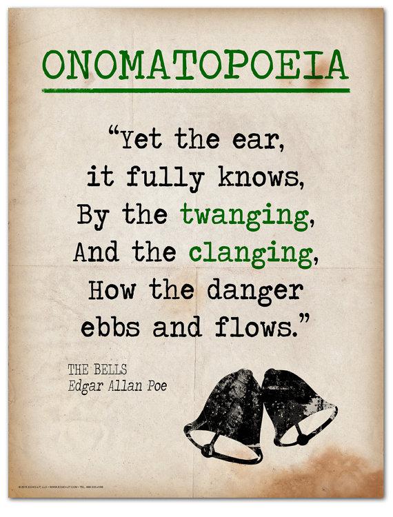 The Bells Onomatopoeia Quote Educational Art Print