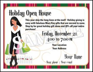 Open House Holiday Shopping Party Postcard Different Looks Using