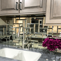 mirror tile, mirrored backsplash, kitchen | For the Home ...