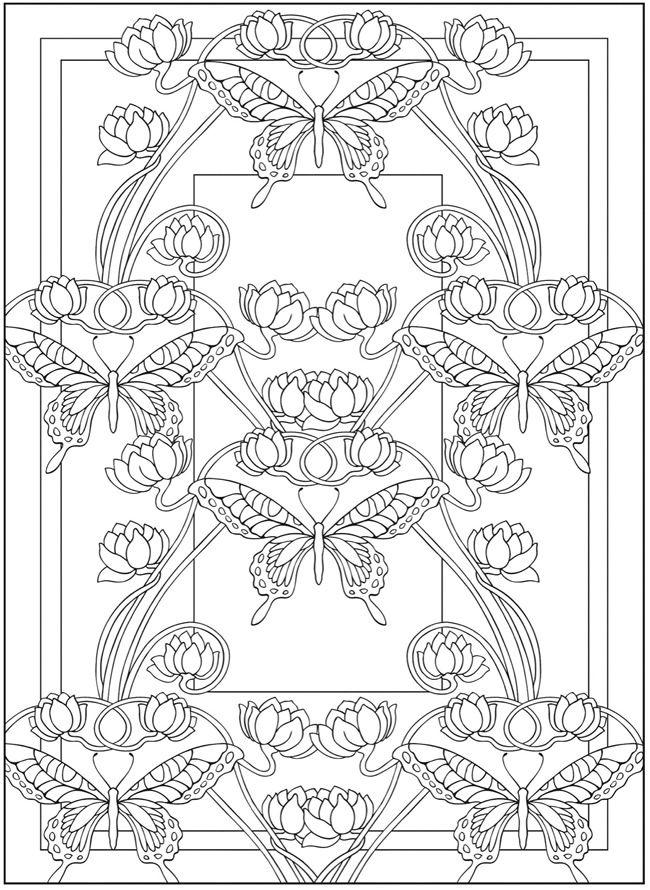 You can never have enough butterflies. Art Nouveau animal