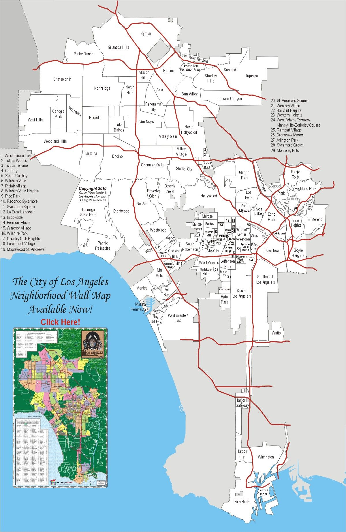 29 Lastest Los Angeles County Map With Cities