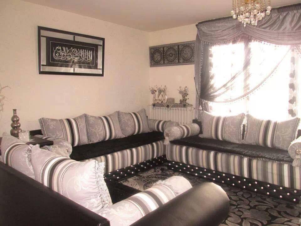 Canap salon marocain oriental et moderne  Plafond platre  Pinterest  Oriental and Salons