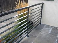 Interior Modern Grey Metal Balcony Railing With Stoned