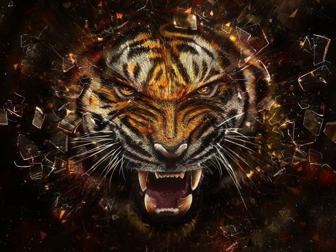 digital art tiger desktop backgrounds | digital design | pinterest