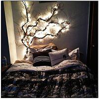 Bedroom. Incredible black comforter on platform bed and ...