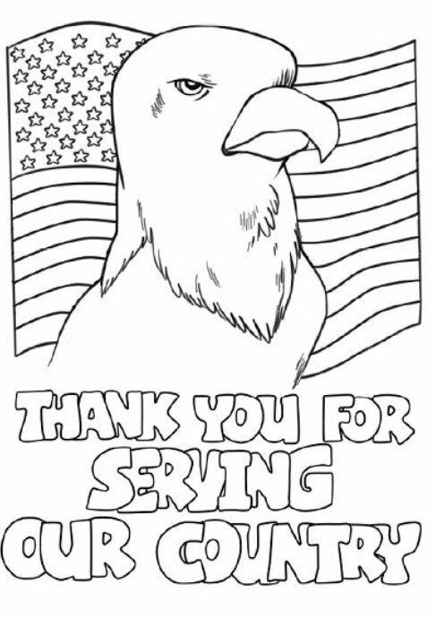 Free Veterans Day Coloring Pages For Kindergarten