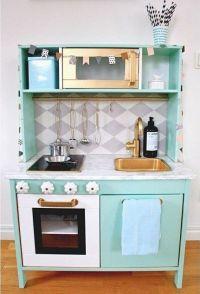 Ikea Duktig play kitchen makeover, mint | kid rooms ...