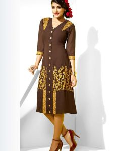Description buy brown faux georgette designer kurti with best price at variation huge collection also green kurtis on rh pinterest