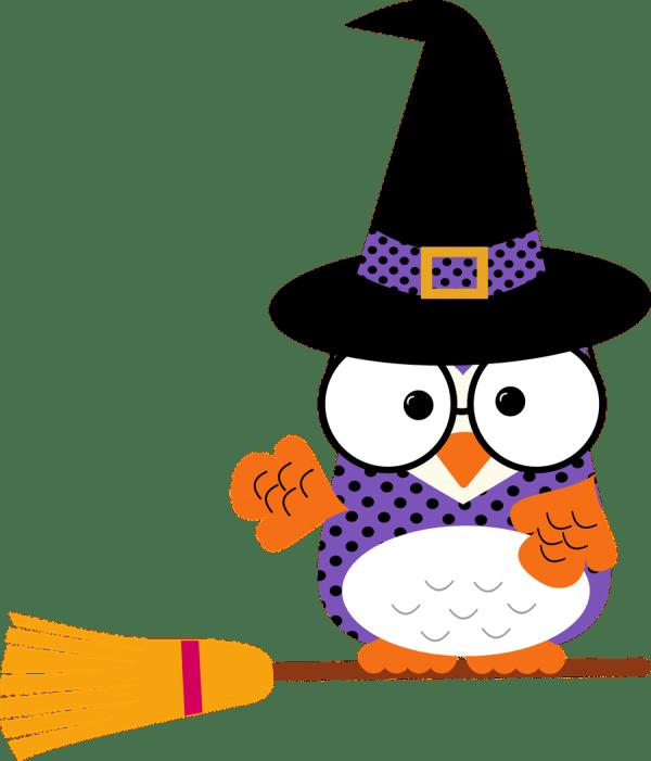 Corujas 2 - Felt- Holidays Easter Halloween Valentines. Owl Clip