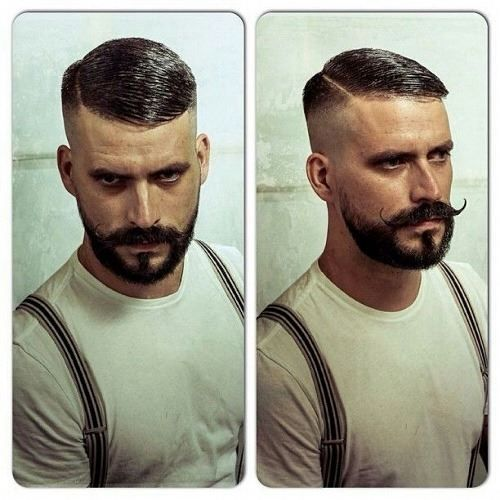 Moustache Old School Barber Cuts Pinterest