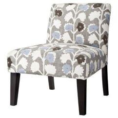 Upholstered Slipper Chair Round Oversized Avington Vines Indigo Target Mobile